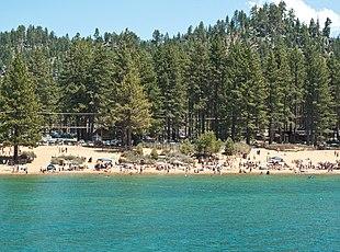 The beach at Zephyr Cove