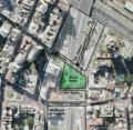 Zona del Pasaje Seaver y Plaza Tedín vistos desde el aire (2013).png
