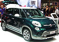 """ 13 - Italian fashion SUV - Fiat 500L Trekking green and white (high bright for wikipedia).jpg"