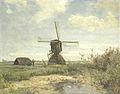 'Zonnige dag'; een molen aan een wetering Rijksmuseum SK-A-3082.jpeg