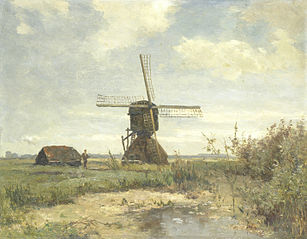'Sunny Day': a windmill on a watercourse