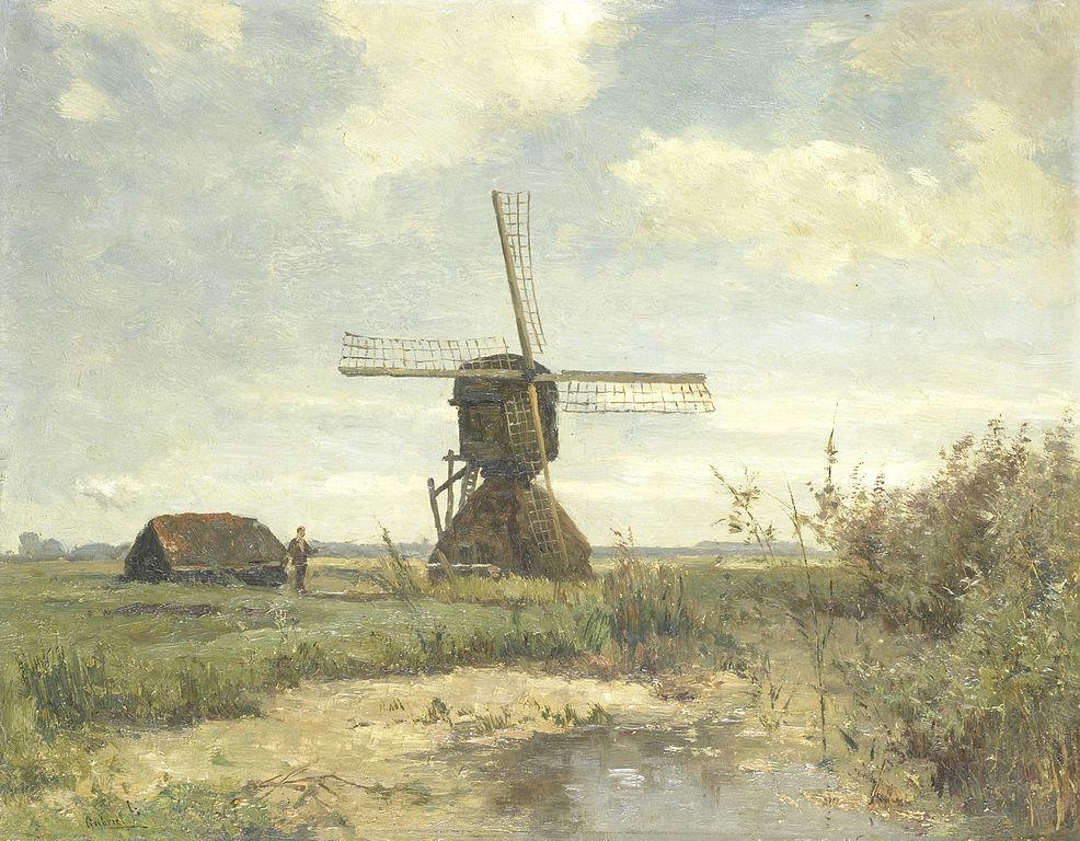 Paysage hollandais dans le musée du Rijskmuseum à Amsterdam.