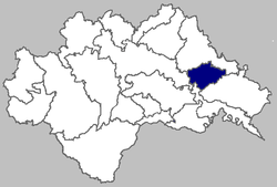 Map of the municipality within Sisak-Moslavina County