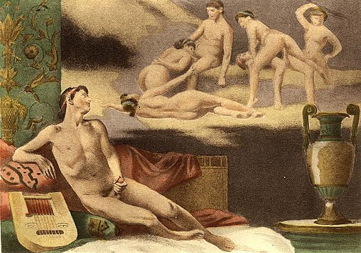 One of the illustrations to De Figuris Veneris by Edouard-Henri Avril. It portrays a male masturbating while sexually fantasizing Edouard-Henri Avril (22).jpg