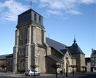 Lannemezan - A general view of the church of Saint Jean-Baptiste
