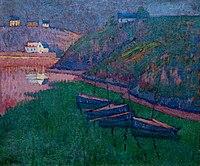 Émile Jourdan 1911-20 Barques de pêche dans une crique.jpg