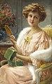Émile Vernon - A Young Lady with a Mirror.jpg
