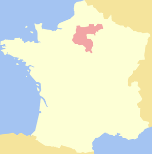 History of Île-de-France - Map of the extent of the historic Isle of France