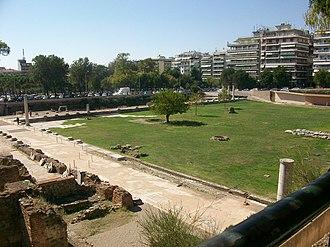 Roman Forum (Thessaloniki) - Image: Ρωμαϊκό Φόρουμ Αρχαία Αγορά, Θεσσαλονίκη