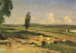 Logs. The Village of Konstantinovka near Krasnoye Selo