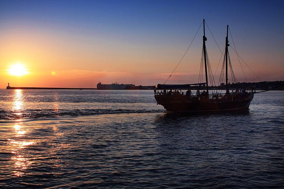 Вид на залив Севастополе