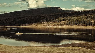 Ust-Kutsky District - Domashny Island in the Kuta River in Ust-Kutsky District
