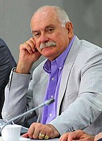 Photo of Nikita Mikhalkov in May 2013.