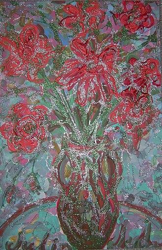 Julia Dolgorukova - Image: Розы в кувшине