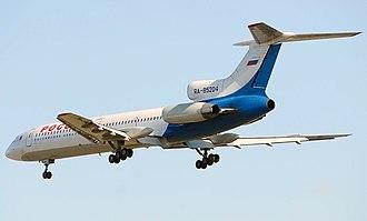Strigino International Airport - Rossiya Tupolev Tu-154M landing at Nizhny Novgorod - Strigino.