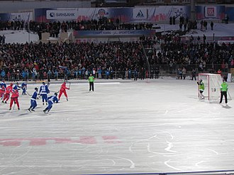 Penalty shot - A penalty shot in bandy