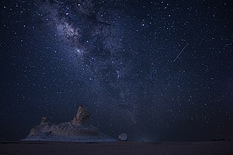 Perseids - Perseids in 2017 as seen from the White Desert, Egypt