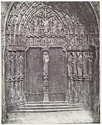 -Chartres Cathedral, Central Portal of the South Transept; The Last Judgment- MET DP102587.jpg