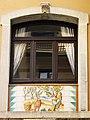020 Can Solé (Barcelona), detall de la façana del c. Sant Carles 4.jpg