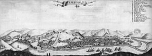 History of Tbilisi - View of Tbilisi as per French traveller Jean Chardin, 1671