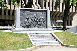 "André Gauthier (sculptor) - ""JE ME SOUVIENS"" (1989), at Quebec City Armoury"