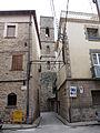 082 Campanar gòtic de Sant Pere (Santpedor), des del carrer Ample.JPG