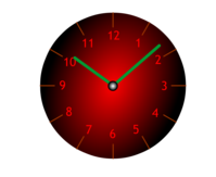 approx. 10:08 (or 10:08) displayed on clock/watch