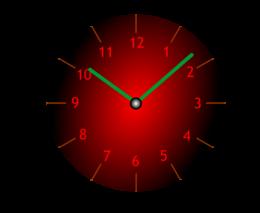Posición de las manillas en el reloj con esta hora