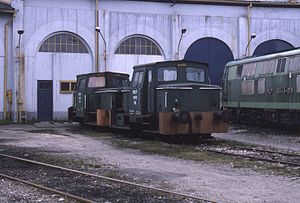 PKP class SM03 - Image: 13.11.94 Lublin depot SM03 163 + SM03 88 (6018215753)