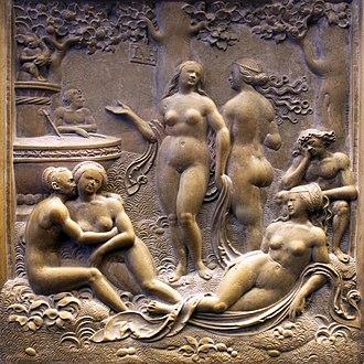 Solnhofen Limestone - Image: 1525 Hering Liebesgarten Jungbrunnen anagoria