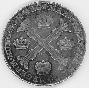 Austrian Netherlands kronenthaler - Burgundian Cross with 4 crowns