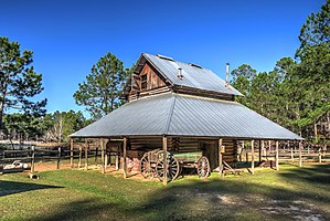 General Coffee State Park - Kirkland Tobacco Barn in General Coffee State Park