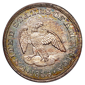 Two-cent piece (United States) - 1836 pattern for the two-cent piece