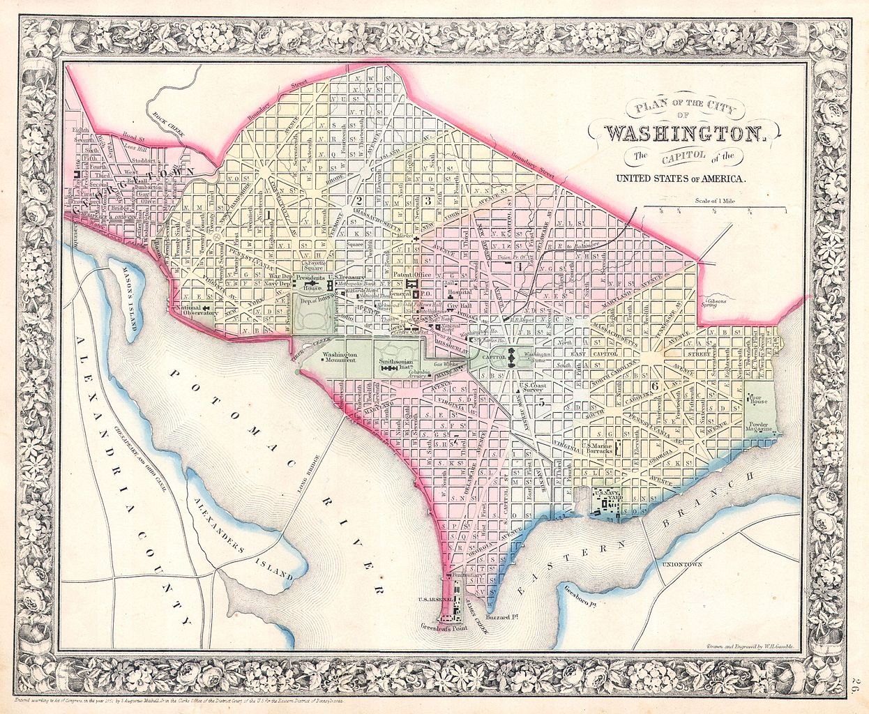 Washington Map Usa Washington Dc Map Best Collections Of Diagram - Washington dc map of america