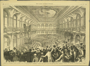 Illustration of the 1876 Democratic National C...