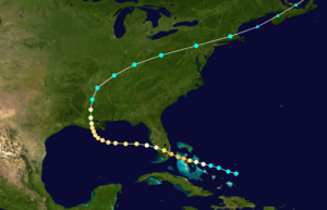 1888 Atlantic hurricane season - Image: 1888 Atlantic hurricane 3 track