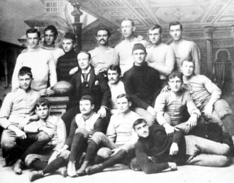 1890 Purdue football team - 1890 Purdue football team, pictured in Debris 1891, Purdue yearbook