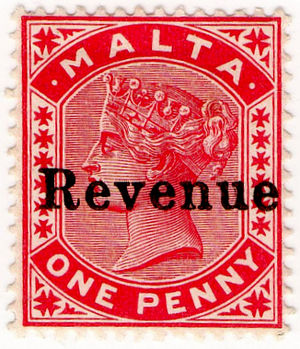 Taxation in Malta - Revenue stamps were used to pay stamp duty from 1899 to the mid-20th century