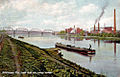 1915 - Canal Boats on Lehigh River by Adams Island.jpg