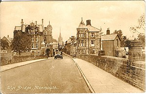 Monmouth School - Postcard from the 1930s showing the main building of the school