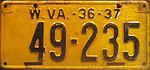 1936-37 West Virginia license plate.jpg