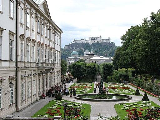 1960 - Salzburg - Schloss Mirabell and Festung Hohensalzburg