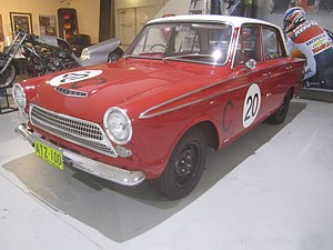 1963 Armstrong 500 - The Ford Cortina GT in which Bob Jane and Harry Firth won Class C
