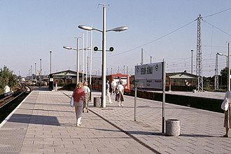 Berlin-Grünau station - Berlin-Grünau station in 1991.