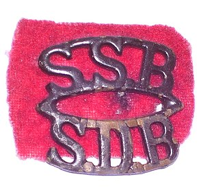 "Special Service Battalion - SSB shoulder title and wartime ""red tabs"""
