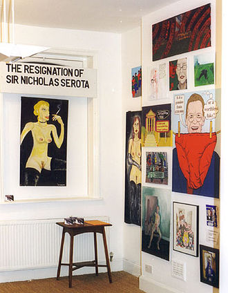 Sir Nicholas Serota Makes an Acquisitions Decision - The first exhibition of the painting at Gallery 108, London, in 2000.