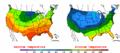 2002-10-07 Color Max-min Temperature Map NOAA.png