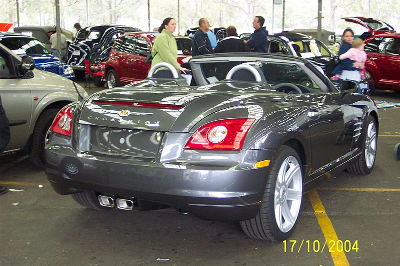 file 2004 chrysler crossfire convertible 5176091262 jpg wikimedia commons. Black Bedroom Furniture Sets. Home Design Ideas