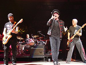 U2 on Vertigo Tour concert 21 Novemeber 2005, ...