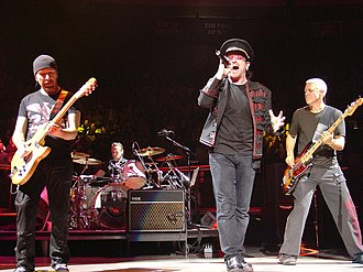 U2 performing at Madison Square Garden in November 2005. 2005-11-21 U2 @ MSG by ZG.JPG